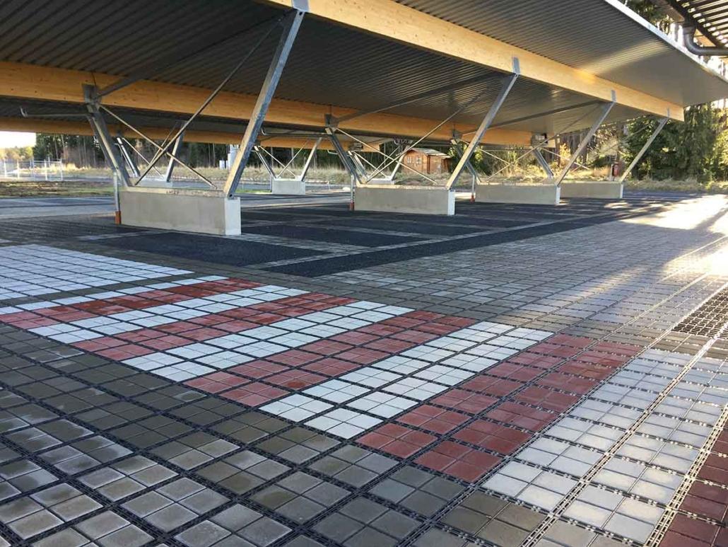 Parkplatz Ecoarster überdacht