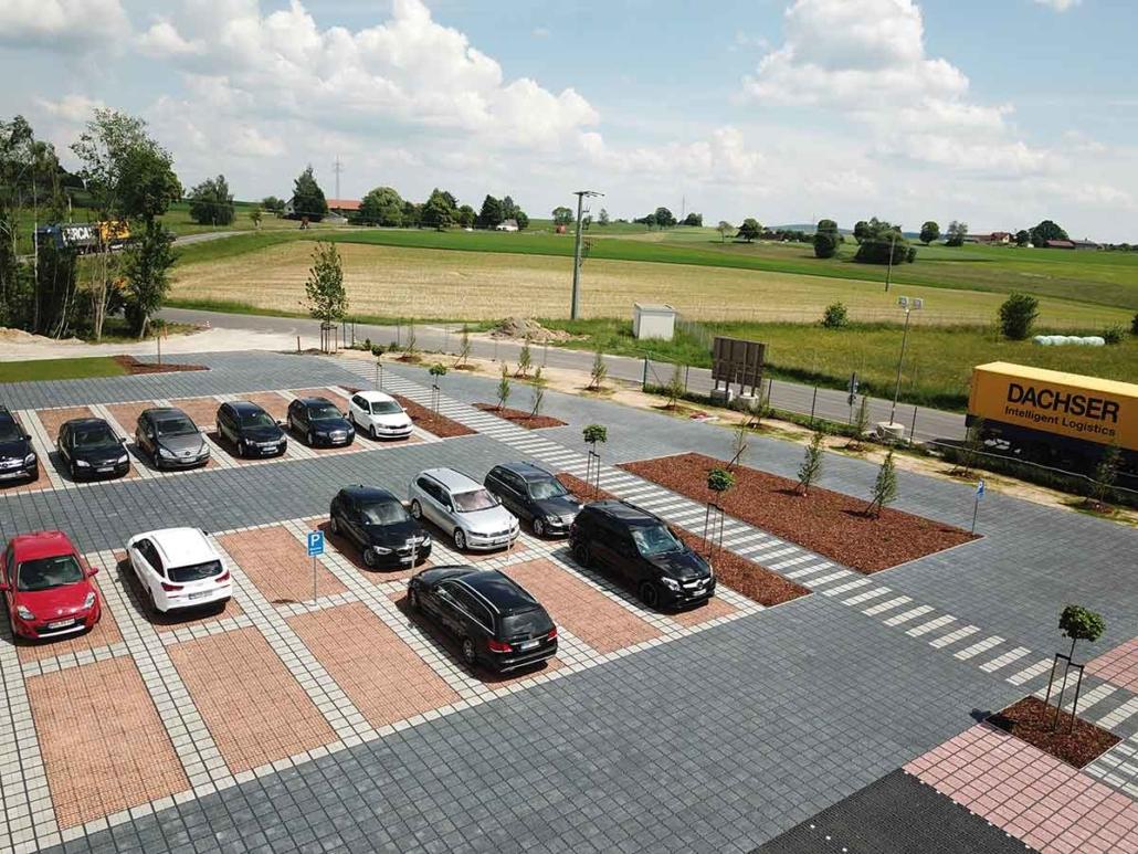 Parkplatz Ecoraster Bloxx