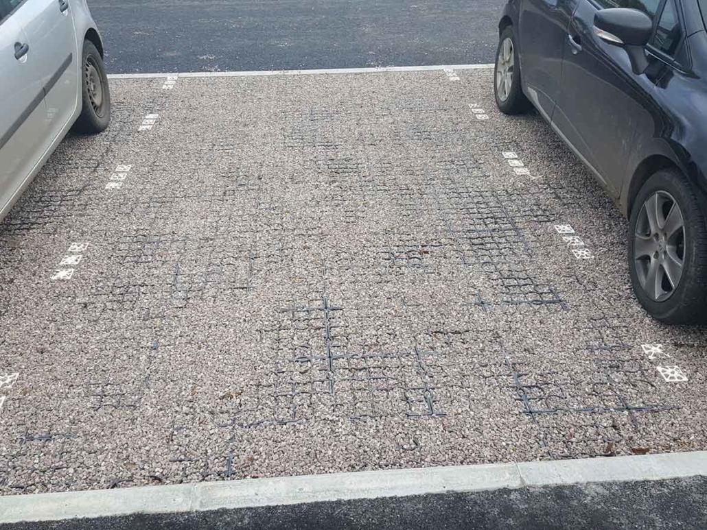 Parkplatzmarkierung Ecoraster