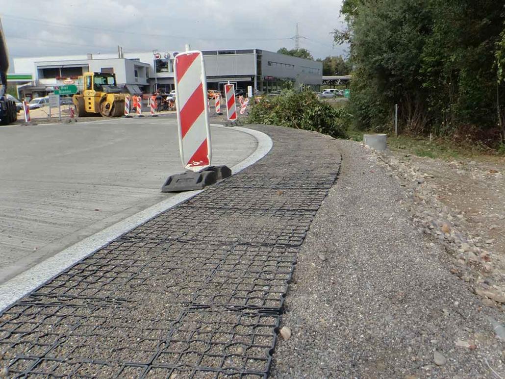 Strassenbankett Baustelle