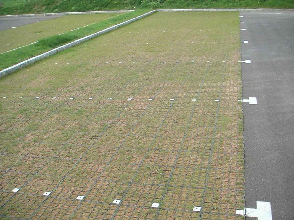 Ecoraster Parkplatz