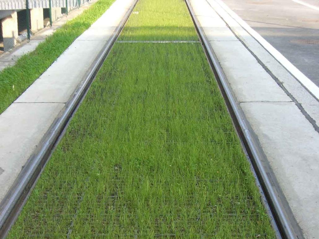 Strassenbahn Bodenbefestigung